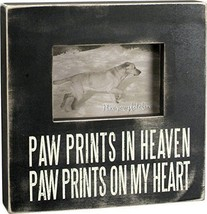 Paw Prints in Heaven Dog Cat Box Frame Primitives by Kathy Picture Photo  - $24.95