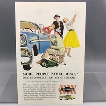 Vintage Magazine Ad Print Design Advertising Chevrolet Automobiles - $32.79