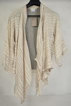 Dolan Anthropologie Soft Zig Zag Print Silk Cardigan Beige XS S NWT - $64.33