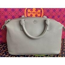 TORY BURCH $495 Brody French Gray Leather Crossbody Bag Handbag - $224.04