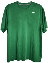 Nike Men's Legend Dri-Fit Training Green Short Sleeve T-Shirt Size L image 1