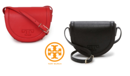 TORY BURCH Serif-T Saddle Cross Bag for Woman with Free Gift - £199.07 GBP