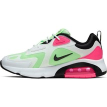 Nike Women's Air Max 200 Shoes NEW AUTHENTIC White/Black/Pink/Green CJ06... - $99.99