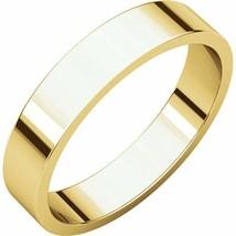 Fine 10k Yellow Gold 4 mm High Polished Flat Wedding Band Ring Size 3-16 - $93.06+