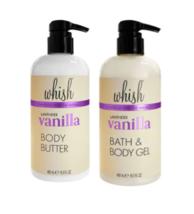 Whish Lavender Vanilla Body Butter & Body Wash 16.9 oz each
