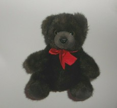 VINTAGE 1989 HUG-A-PLUSH COMMONWEALTH DARK BROWN TEDDY BEAR STUFFED ANIM... - $18.70