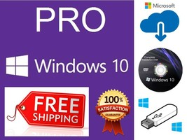 MICROSOFT WINDOWS 10 PROFESSIONAL DVD/USB + GEN... - $19.99 - $49.99