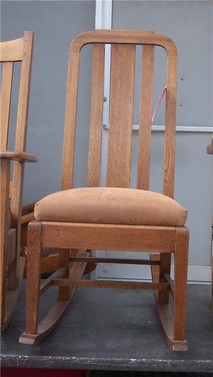 Quartersawn Oak Mission Sewing Rocker/Rocking Chair