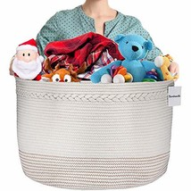 Bambooville Cotton Rope Basket Extra Large XXXL 21.8''x 13.8'' for Toy S... - €33,74 EUR
