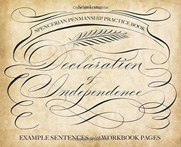 Spencerian Penmanship Practice Book: The Declaration of Independence: Ex... - $7.79