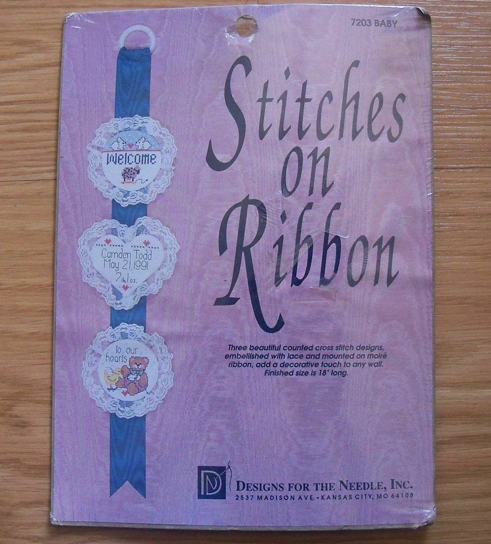 Designs for the Needle Stitches on Ribbon 7203 Welcome a New Baby NEW - $12.99
