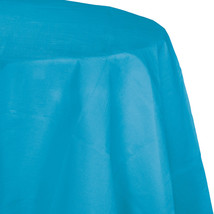 82 inch Octy Round Tissue/Poly Tablecover Turquoise/Case of 12 - $50.00