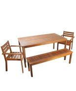 4-Piece Acacia Wood Outdoor Patio Dining Set - $667.00