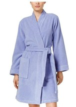 Charter Club Women's Textured Terry Robe Spa Easter Egg Blue, 2XLarge - $39.59