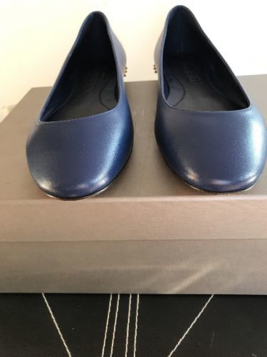60a06401b65 New AUTH Alexander McQueen Midnight Blue Skull Slip On Flats EU SZ 36.5  895