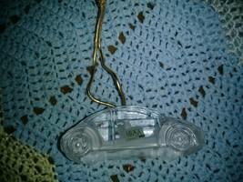 Mikasa Miniature Classics Glass Crystal VW Beetle Christmas Tree Ornament - $17.03