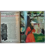 Nancy Drew THE CLUE OF THE VELVET MASK #30 hcdj... - $15.00