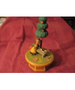 Green Apples ANRI Music Box  Swiss Thorens Movement Vintage Hand Carved ... - $75.00