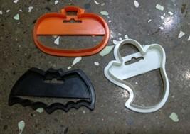 WILTON HALLOWEEN cookie cutter set lot pumpkin ghost bat vtg  - $14.41