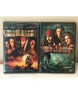 Pirates of the Caribbean 1 and 2 DVDs Lot of 2 Curse Black Pearl Dead Ma... - $19.99