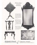 Antique Furniture 1969 Dealer Ad Muhlenberg Schmidt Label Mirror - $14.99
