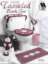Annies attic crochet tasseled bath set thumb200