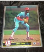 L@@K HTF ozzie smith 8x10 action photo MAJOR LEAGUE BASEBALL 1990 no.2 - $6.00