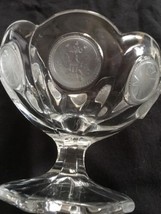 Fostoria Coin Depression Glass Jelly/Dessert Pedestal Bowl Compote Vinta... - $19.99
