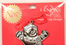 Lenox Holiday Helpers Gift Card Holder Silver Snowman Ornament Christmas... - $4.39