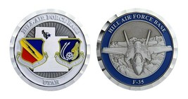 "HILL AIR FORCE BASE UTAH F-35 MILITARY 1.75"" CHALLENGE COIN - $17.14"