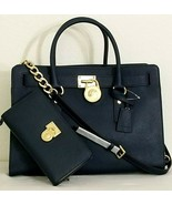 MICHAEL KORS HAMILTON NAVY BLUE LARGE SATCHEL BAG +/OR MATCHING WALLETNWT - $99.99+