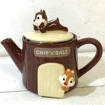 Disney Chip and Dale Tea Pot House wooden house 350cc Pottery pot - $62.37