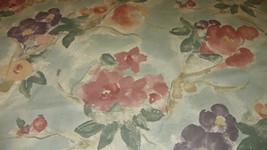 Sage Mauve Purple Flower Print Cotton Upholstery Fabric 1  Yard  R709 - $14.95