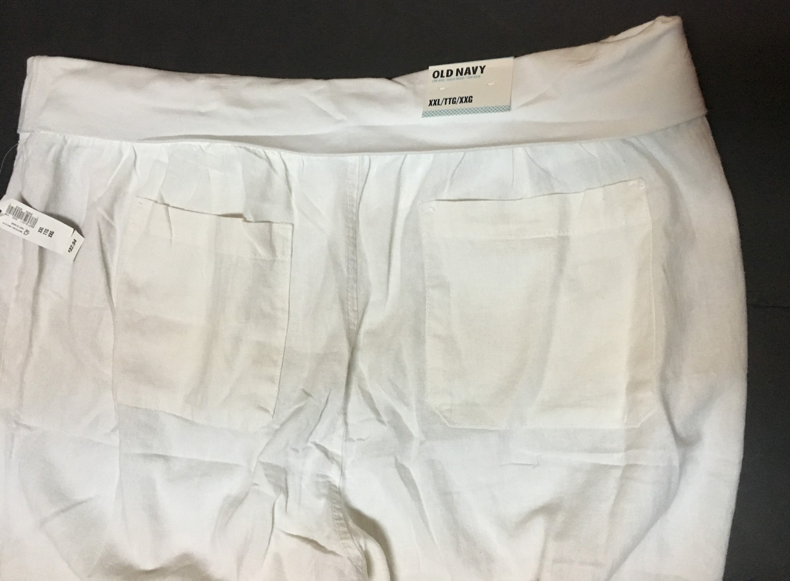 Old Navy White Low Rise Linen Pants XXL NWT