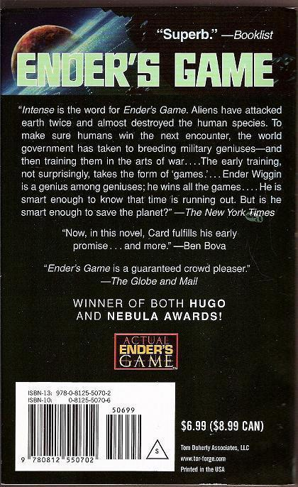 an analysis of enders game a book by orson scott card Ender's game (orson scott card) at booksamillioncom what we're reading nowi've never met anyone who didn't love the book.