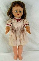 "Doll Auburn Brown Hair Sleepy Green Eyes Vintage 24"" Jointed Hard Plasti... - $29.69"