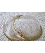 Small Gold Edge Sandwich Glass Coin Tray or Tea... - $12.00