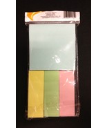 Blue, Pink, Yellow, and Green Set of 4 Self Stick Note Pads  - $3.95