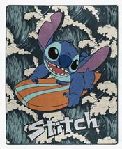 "Disney Lilo And Stitch Surfing Waves Super Soft Plush Throw Blanket 50"" ... - $42.07"