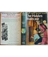 Nancy Drew THE HIDDEN STAIRCASE #2 hcdj 1954B-66 Carolyn Keene - $20.00