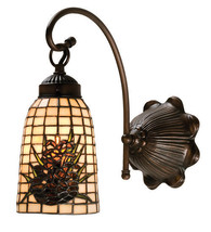 """6""""W Pine Cone Barons 1 Light Vanity Fixture Tiffany Style Stained Glass ... - $3.772,53 MXN"""