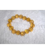 Tiger Yellow Crystal Bead Stretch Bracelet - $5.00