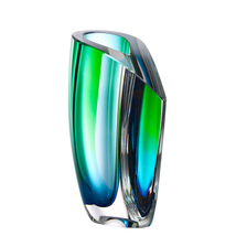 Kosta Boda Mirage Vase Green Blue Hand Blown New - $495.00