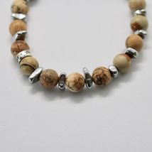SILVER 925 BRACELET WITH HEMATITE AND JASPER BWI-3 MADE IN ITALY BY MASCHIA image 6
