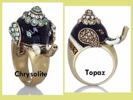 Heidi Daus Michelle's Majestic Mr. Elephanté Crystal Elephant Design Ring  - $49.72
