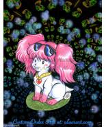 Original Poochie 1980 Glitter Grass Retro Fan Art + BW Extras -Happy Gli... - $19.99
