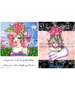 Rose Petal Place Originals +Prints Rose Petal Flowery + Starry Fan Art 4... - $16.99