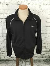 Fila Men's Sz XL Jacket Black Slim Fit Track Athletic Zip-Up Sport - $20.78