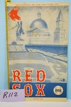 1958 Boston Red Sox Baseball Program Scorecard vs K.C. A's Ted Williams ... - $44.55
