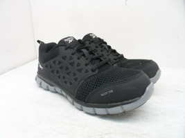 Reebok Work Women's Sublite Safety Cushion Work Shoes RB041 Black/Grey S... - $47.49